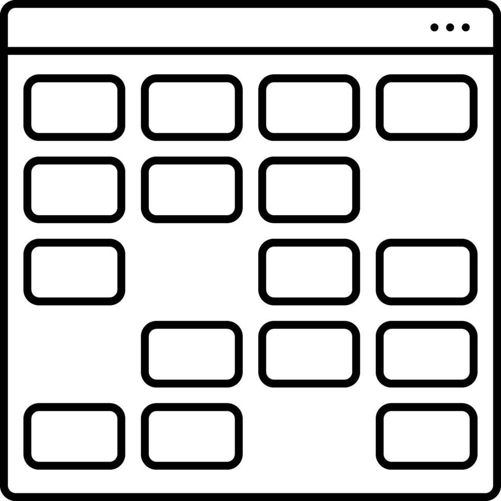 lijn pictogram voor kaart vector