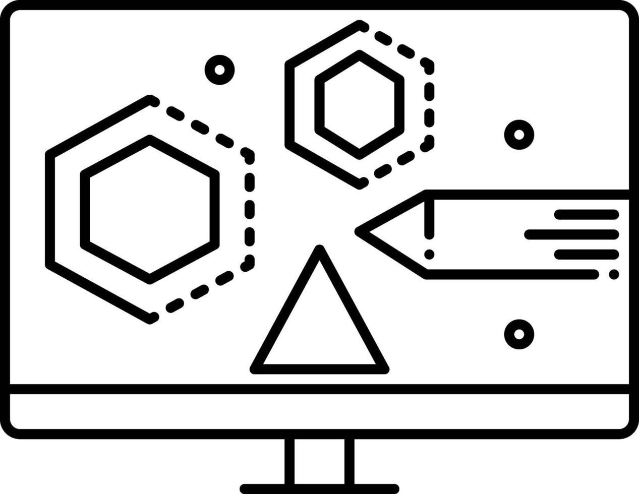 lijnpictogram voor visueel ontwerpen vector