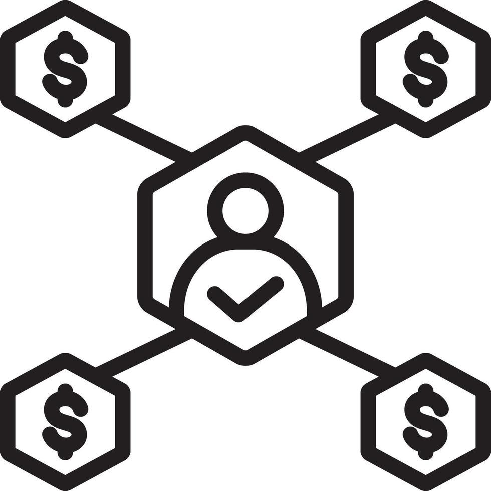 lijn pictogram voor zakelijke beslissing vector