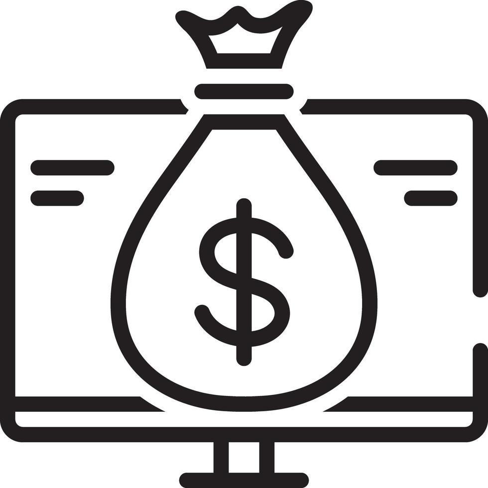 lijn pictogram voor financiën vector