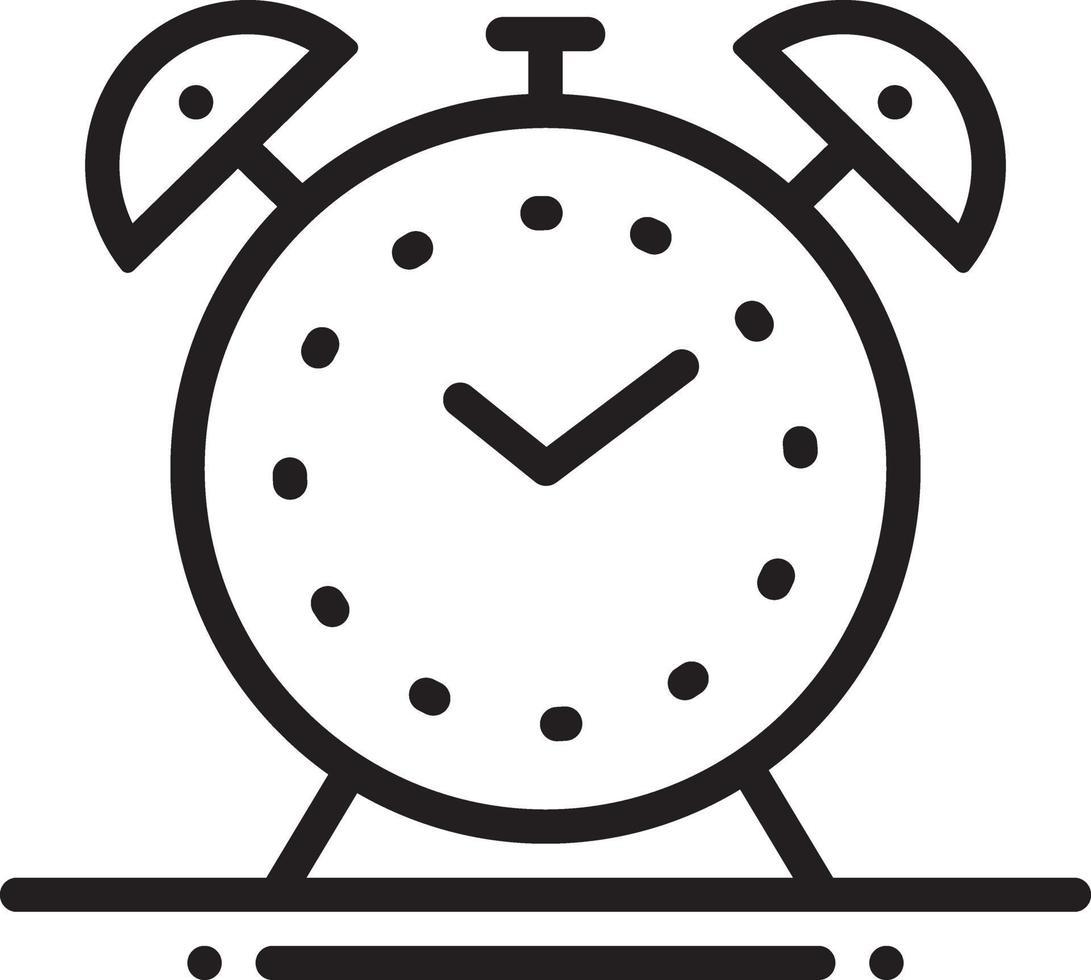 lijn pictogram voor wekker vector