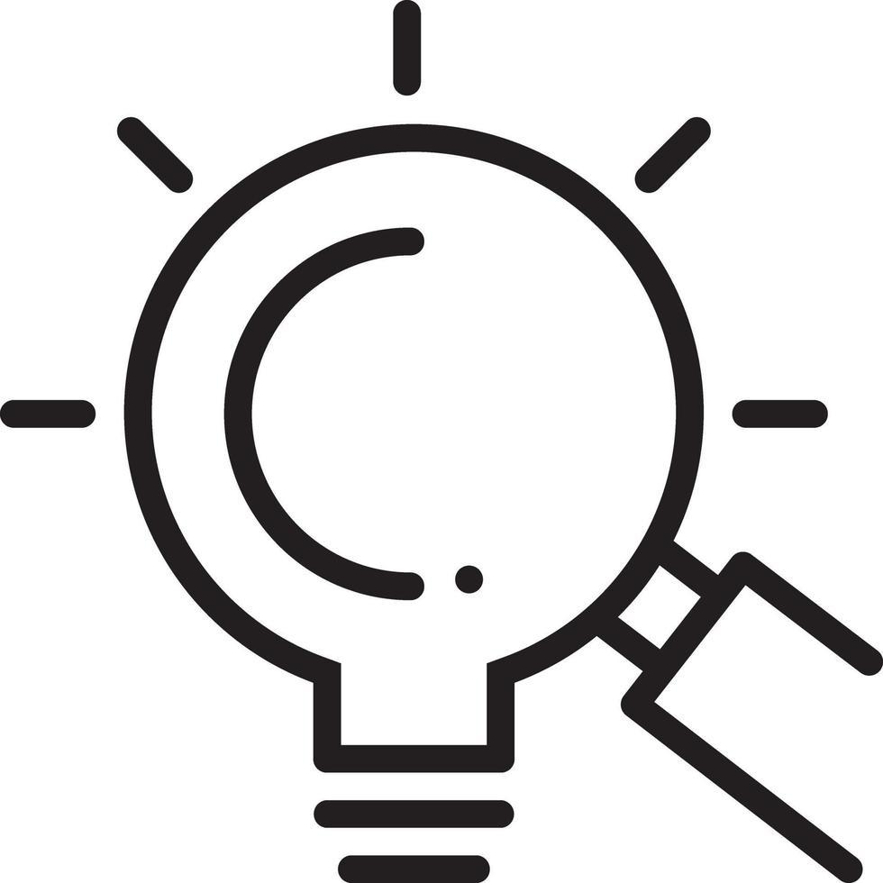 lijnpictogram voor het zoeken naar kansen vector
