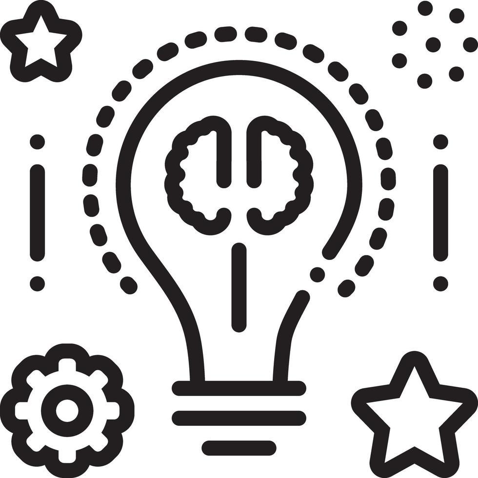 lijnpictogram voor slimme ideeën vector