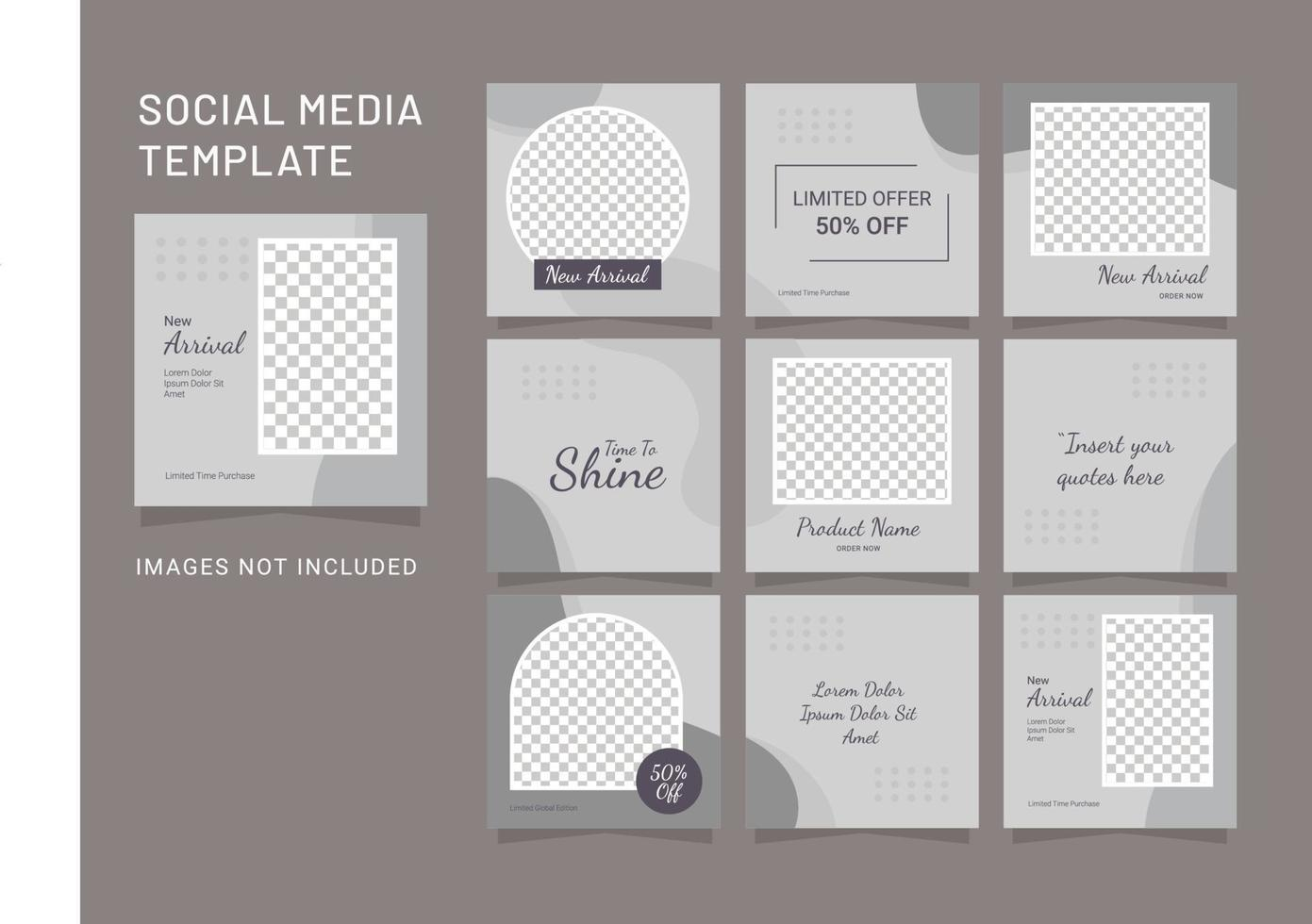 sjabloon mode vrouwen sociale media feed puzzel vector