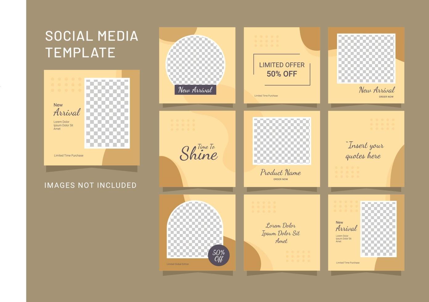 sjabloon sociale media mode vrouwen plaatsen puzzel vector