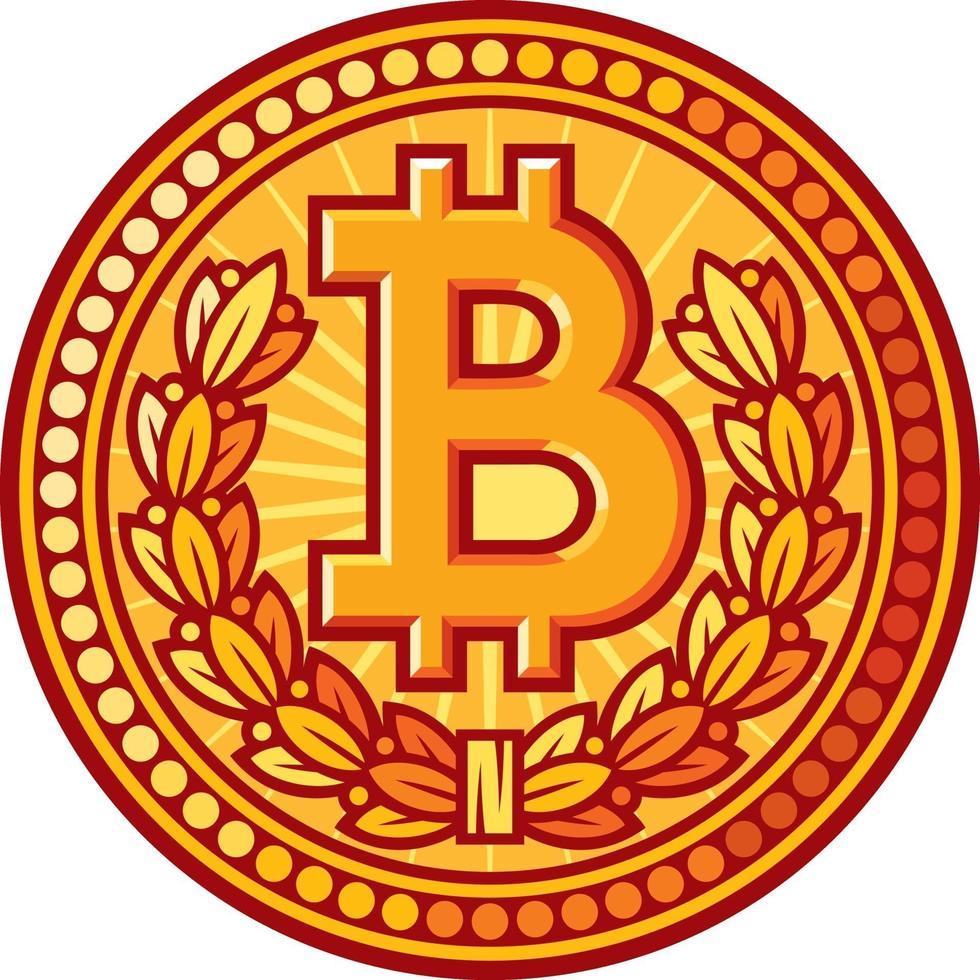 bitcoin gouden munt vector