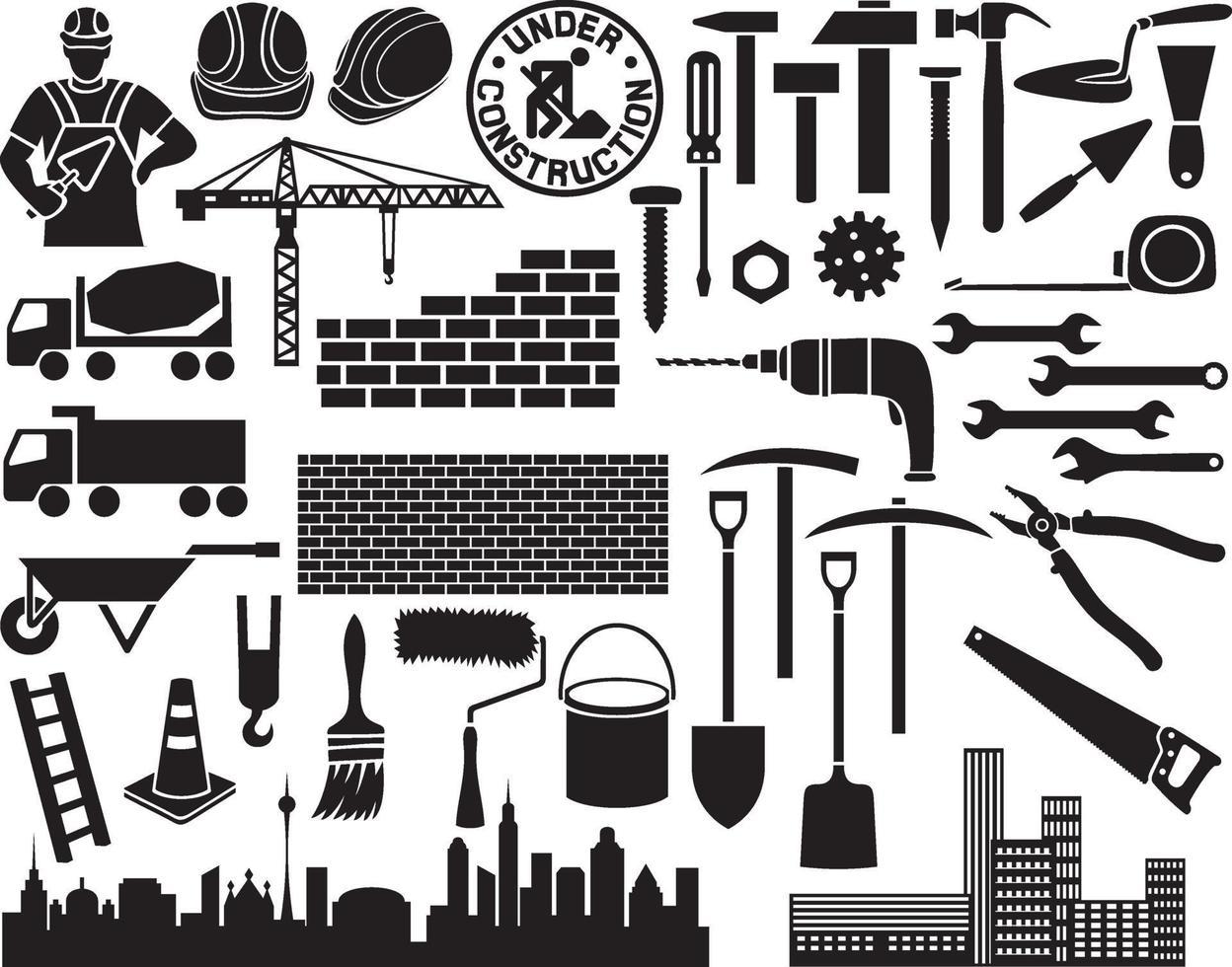 bouw pictogramserie vector