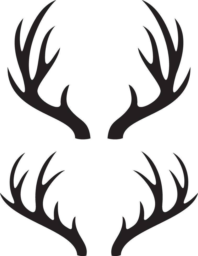 herten hoorns vector