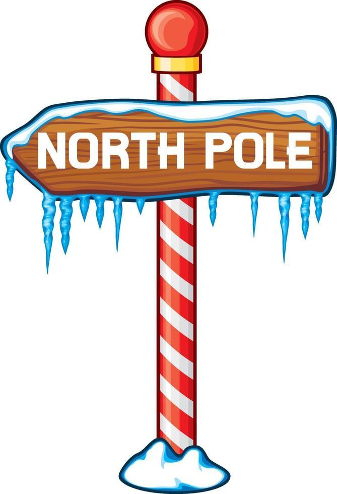noordpool houten teken vector