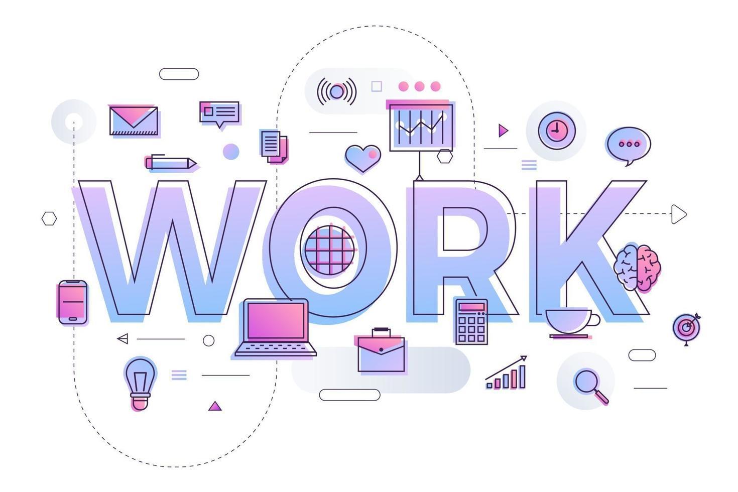zakelijk woord werk vector