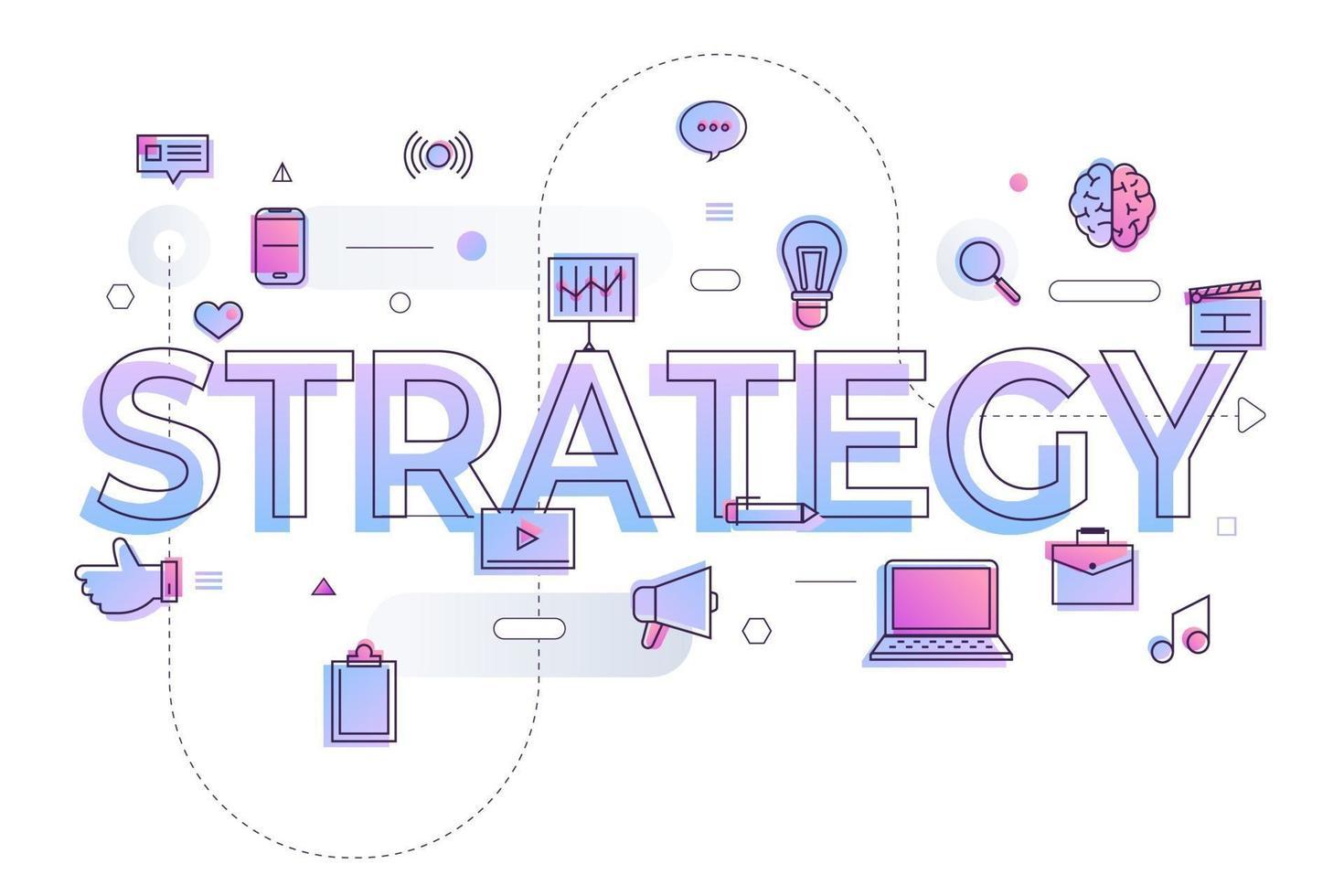 bedrijfswoordstrategie vector