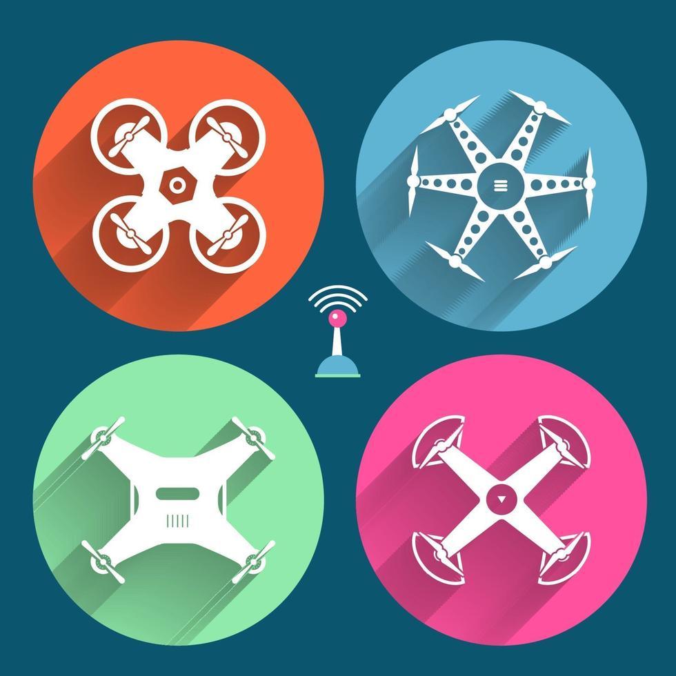 drones vector illustreren