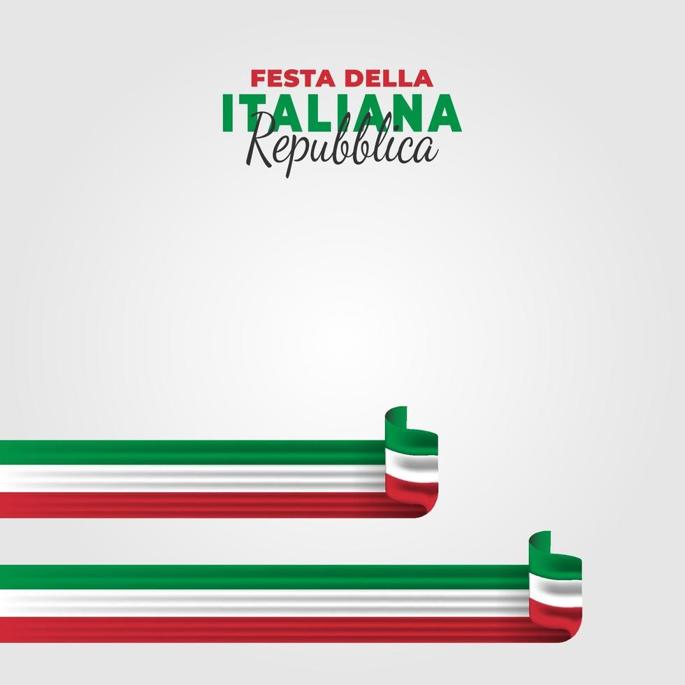 vectorillustratie van festa della repubblica italiana. Italiaanse republiek dag. vector