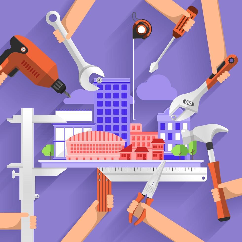 bouw bouw stad vector
