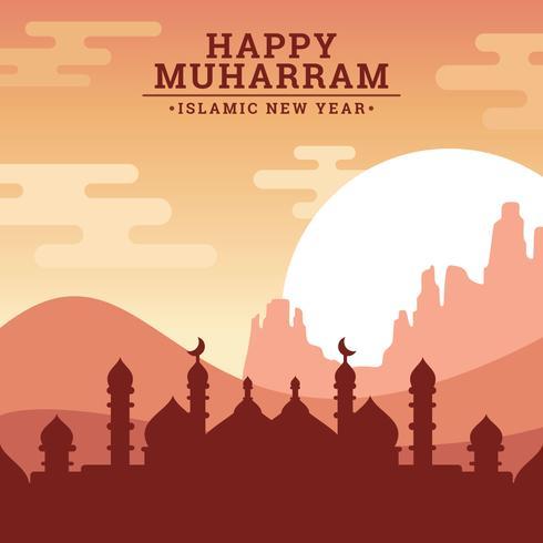 Islamitisch nieuwjaar vector