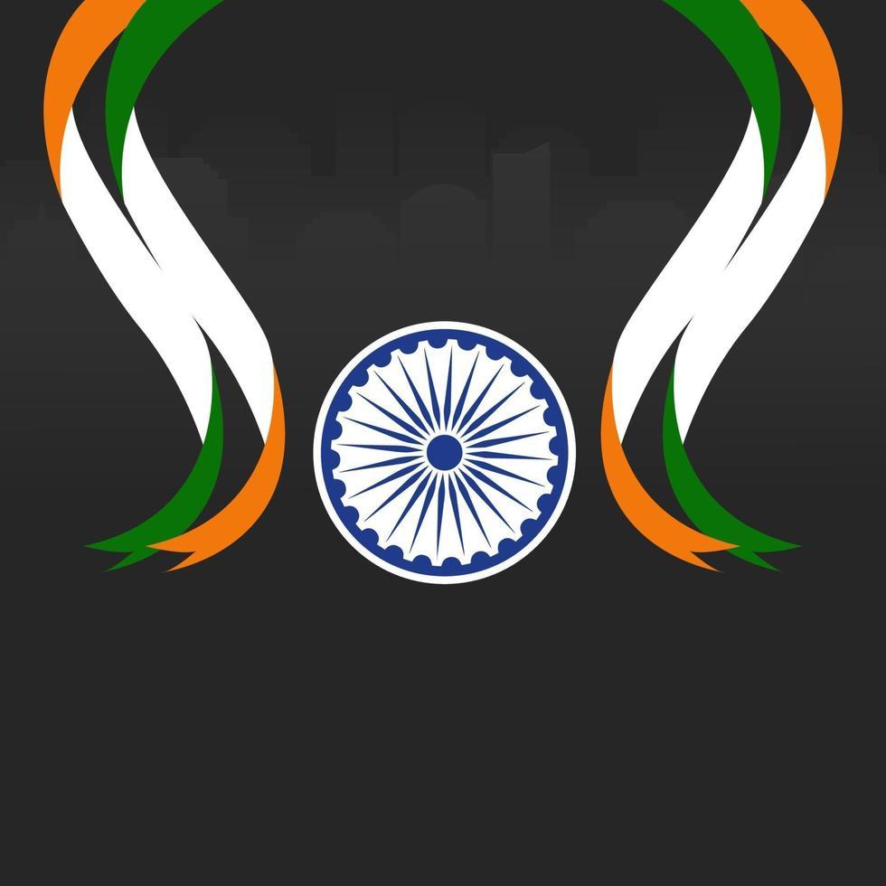 illustratie van gelukkige dag van de republiek india vector