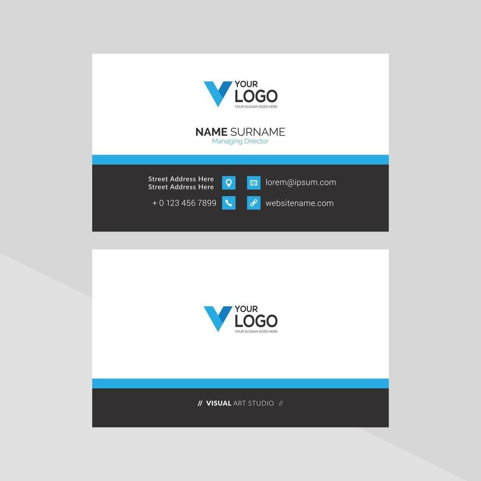 elegant visitekaartje, blauwe en witte zaken vector