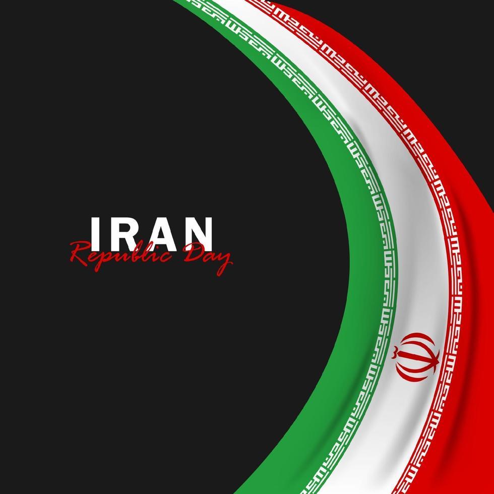 vector van de dag van de republiek met de vlaggen van iran. viering van de dag van de republiek van iran.