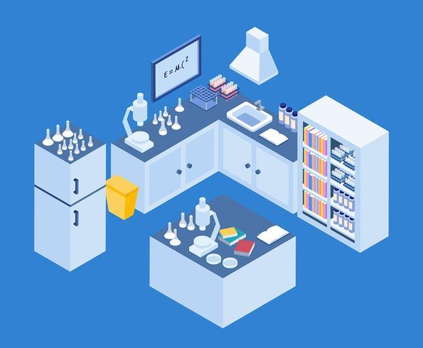 Isometrische Lab Illustratie vector