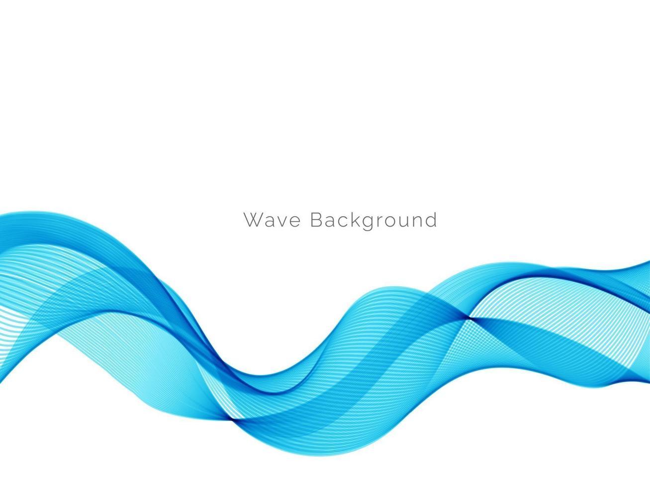 soepele stijlvolle vloeiende blauwe golf achtergrond vector