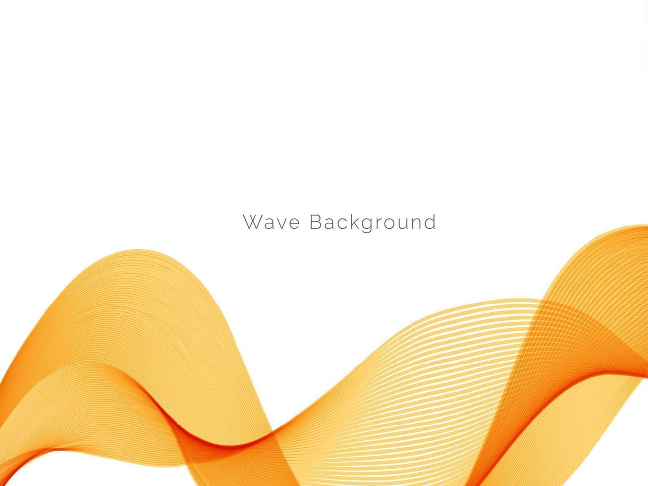 decoratief ontwerp modern met stijlvolle gladde gele golf achtergrond vector