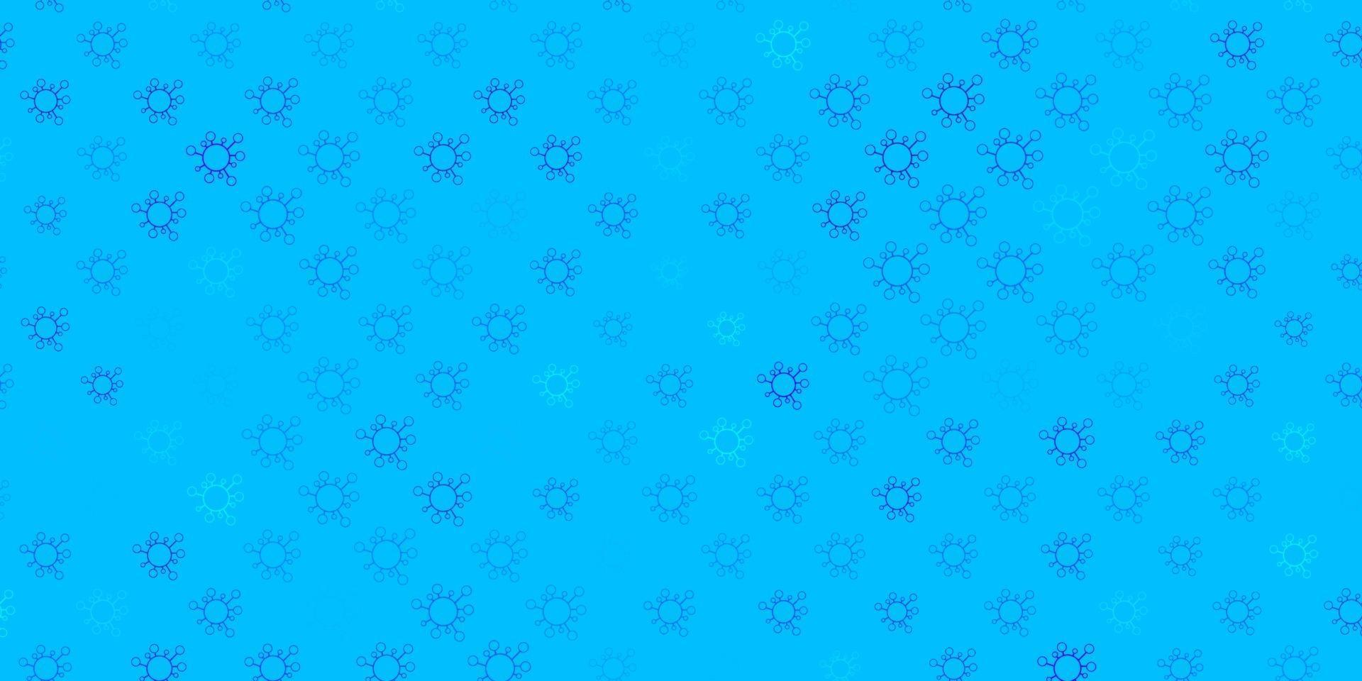 donkerblauwe, groene vectorachtergrond met covid-19 symbolen. vector