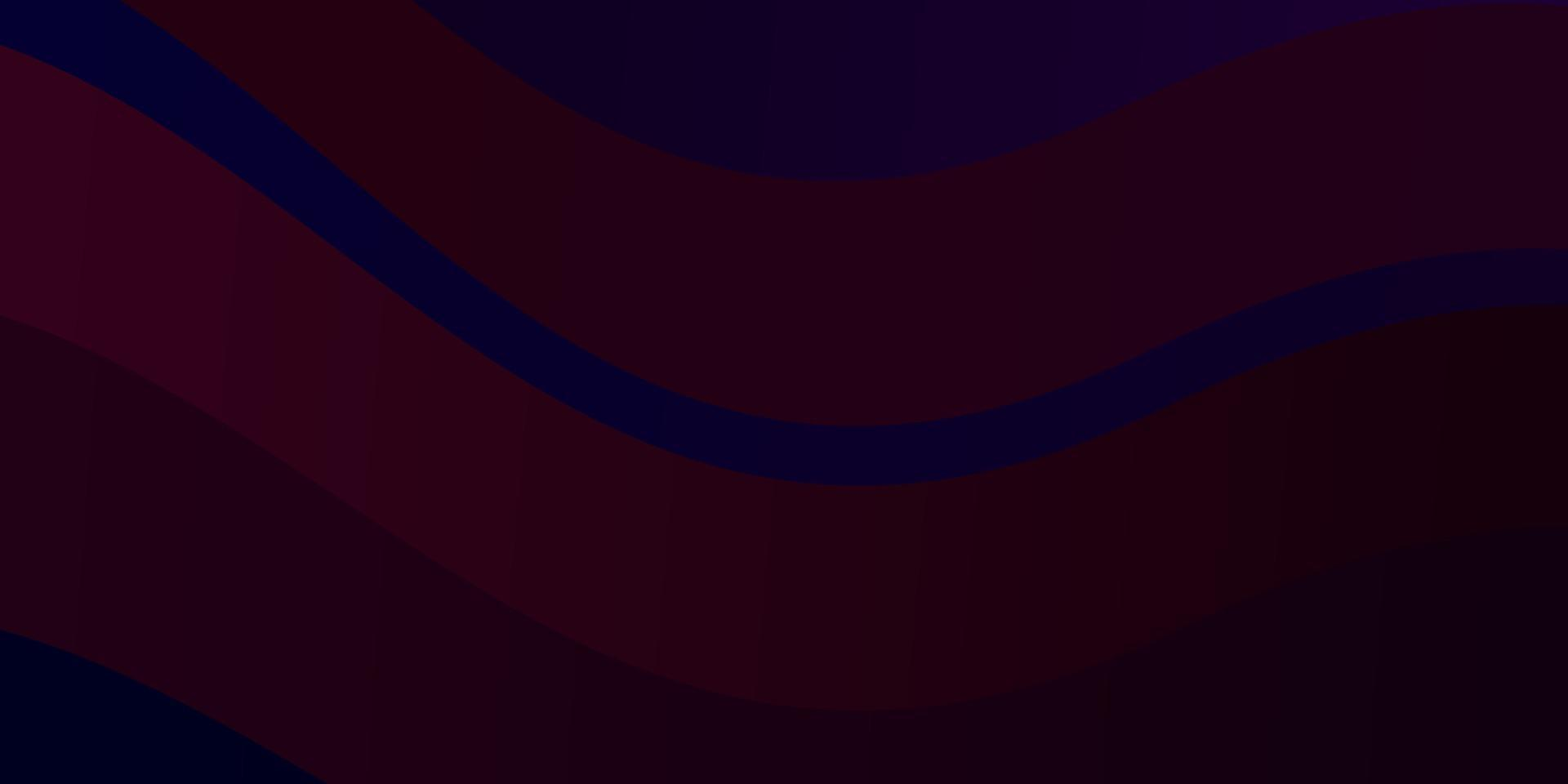 donkerblauw, rood vectorpatroon met lijnen. vector