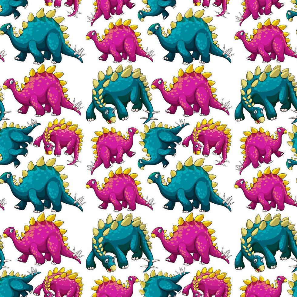 naadloze patroon met fantasie dinosaurussen cartoon vector