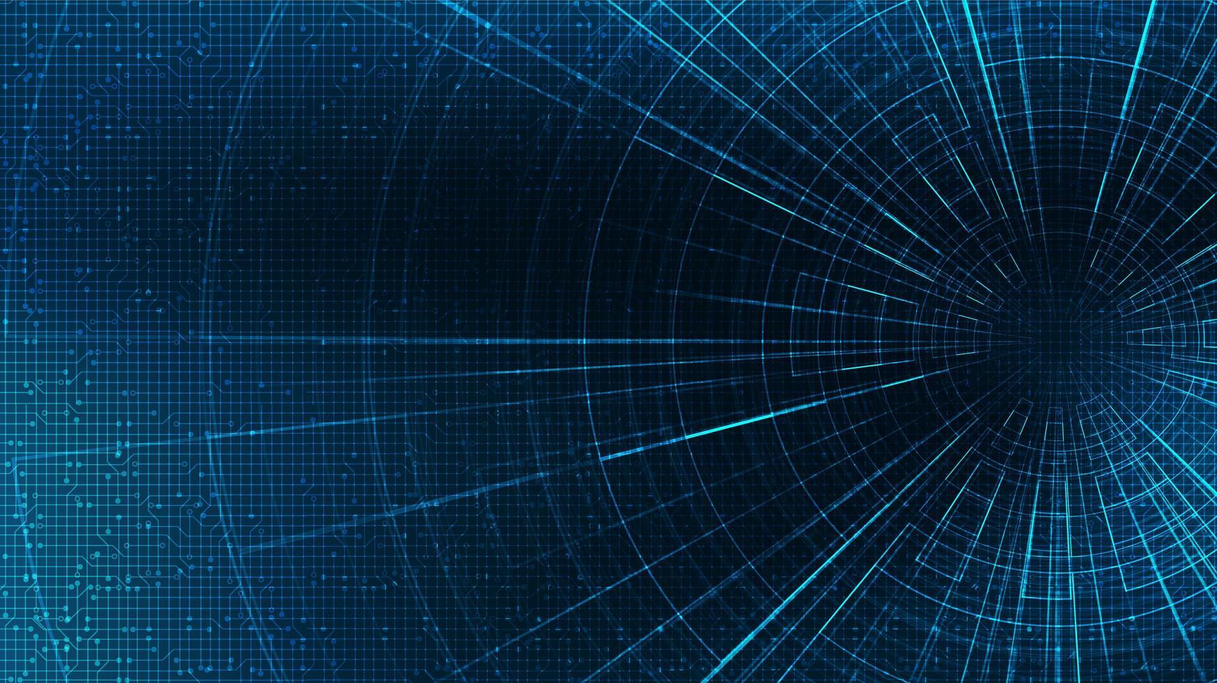 abstracte hyperspace-snelheidsbeweging op toekomstige technologieachtergrond, warp en uitbreidend bewegingsconcept, vectorillustratie. vector