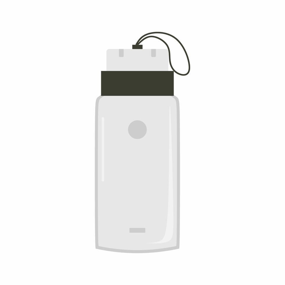 thermosfles pictogram. roestvrijstalen metalen thermoskan hydro kolf water. wereld milieu dag en aarde dag concept. drinkwater ecologische fles voor dranken. vector vlakke afbeelding