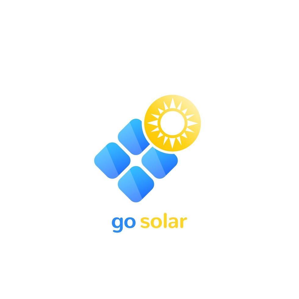 zonnepaneel vector logo pictogram