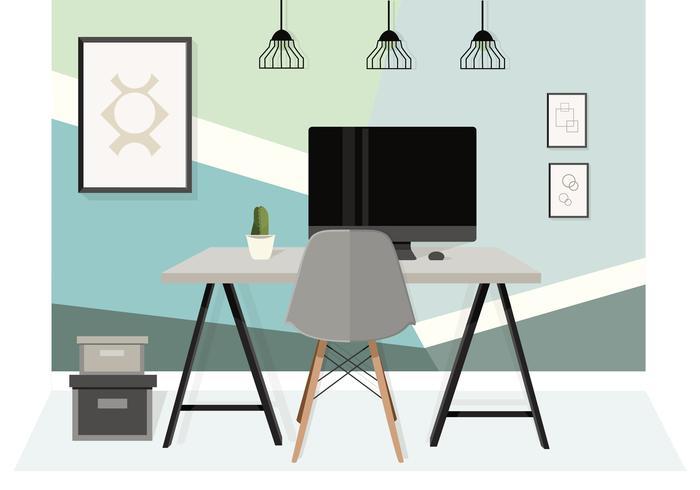 Vector Desktop Illustratie