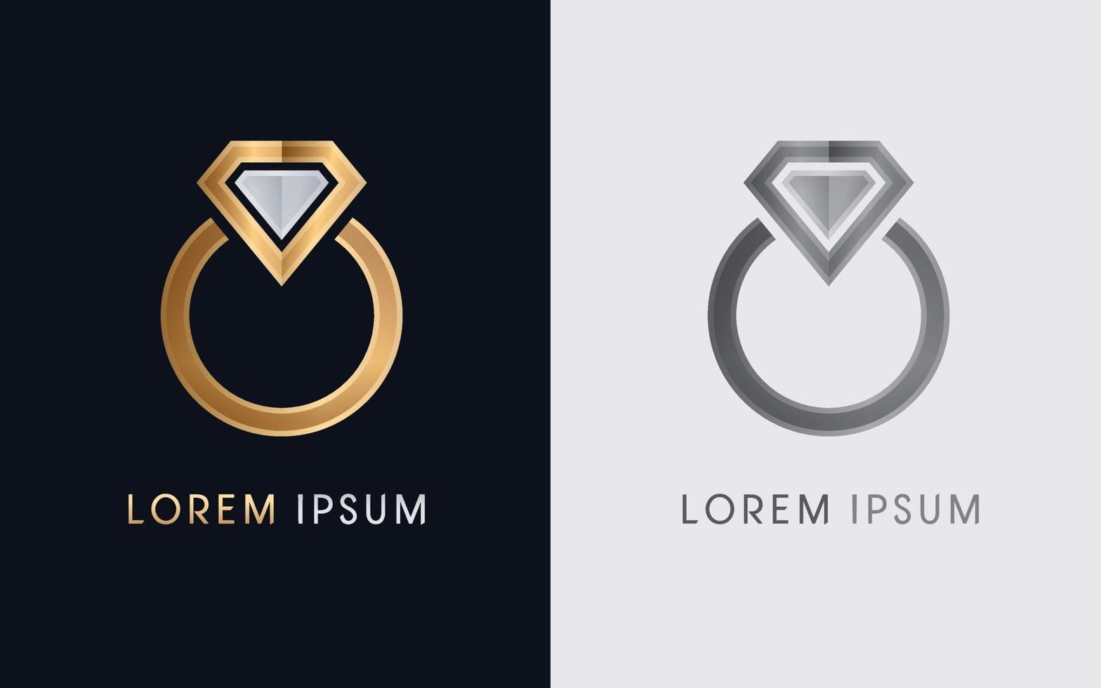 diamanten ring sieraden vector