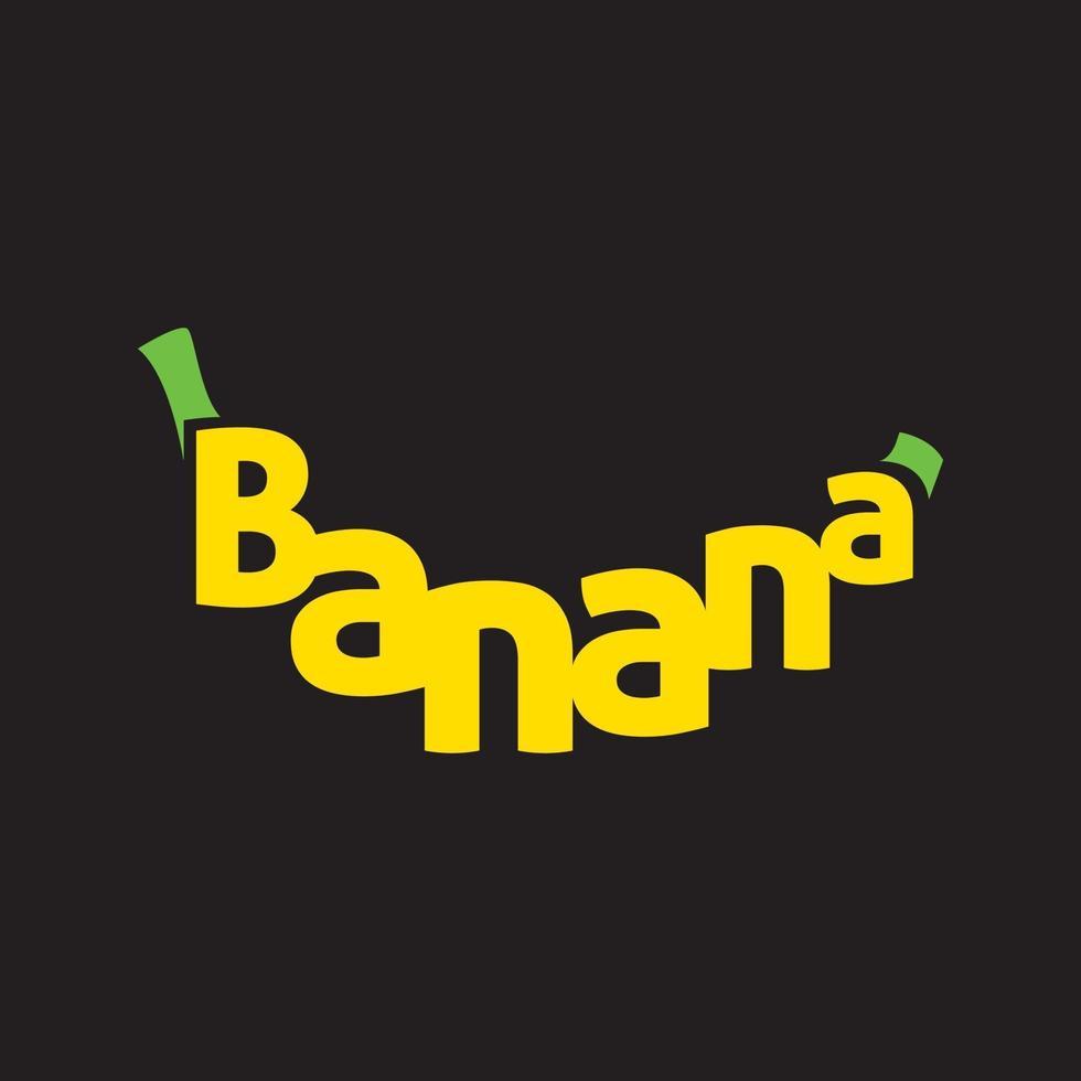 banaan tekstvorm vector