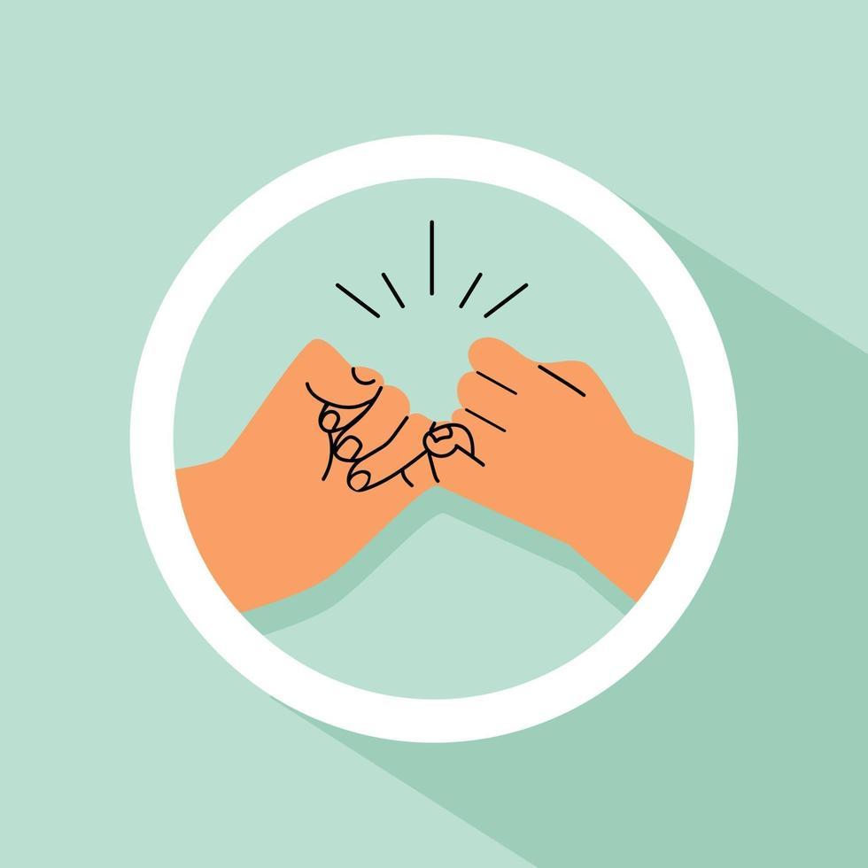 handen pink belofte pictogram vector