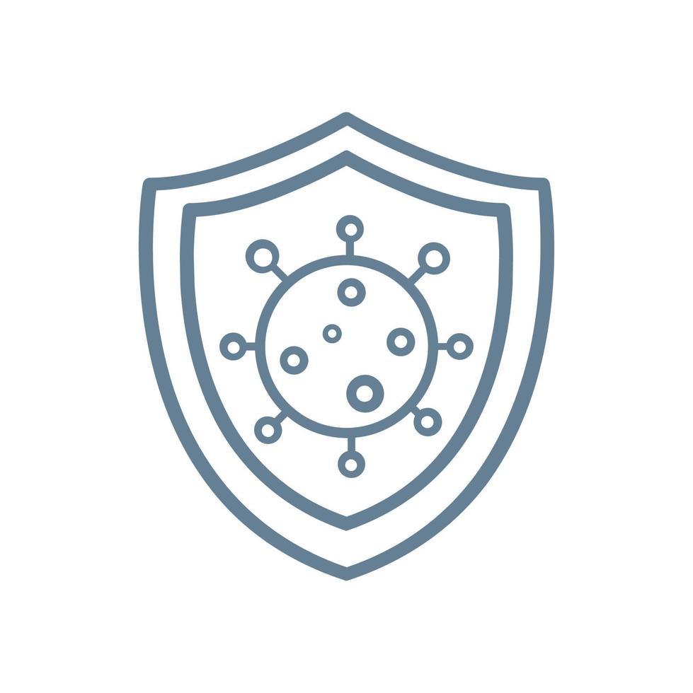 schild om te beschermen tegen covid-19 coronavirusbescherming vector