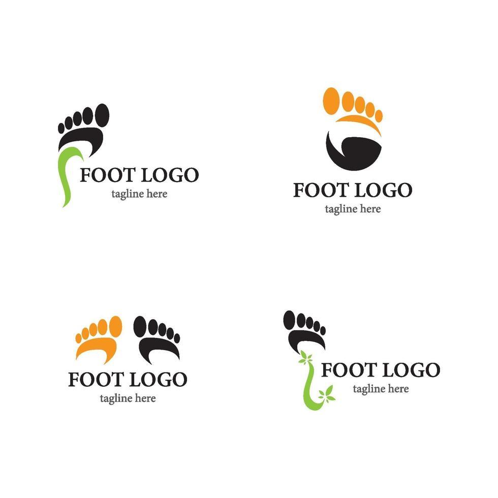 voet logo sjabloon pictogramserie vector