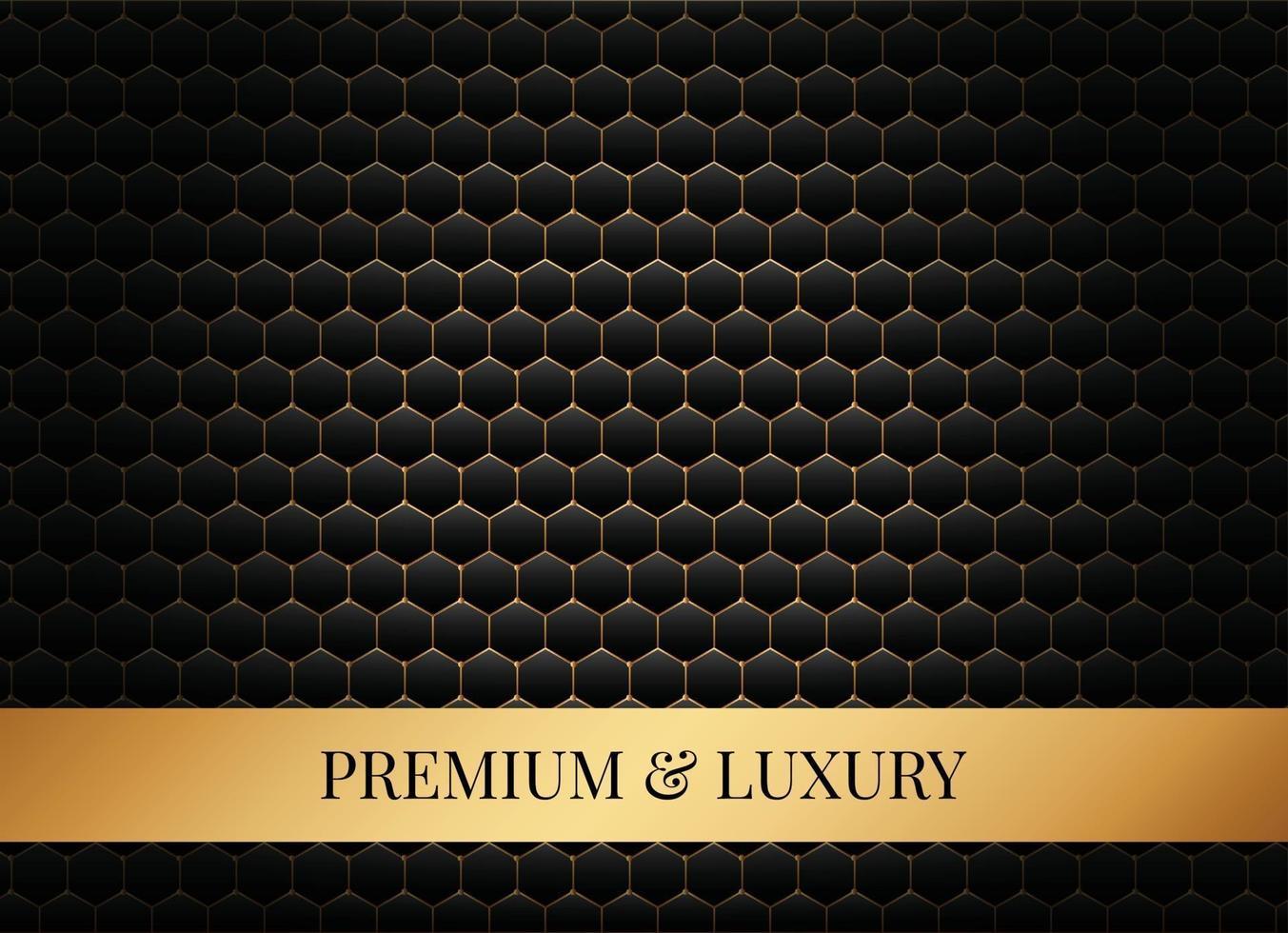 luxe zeshoek achtergrond vector