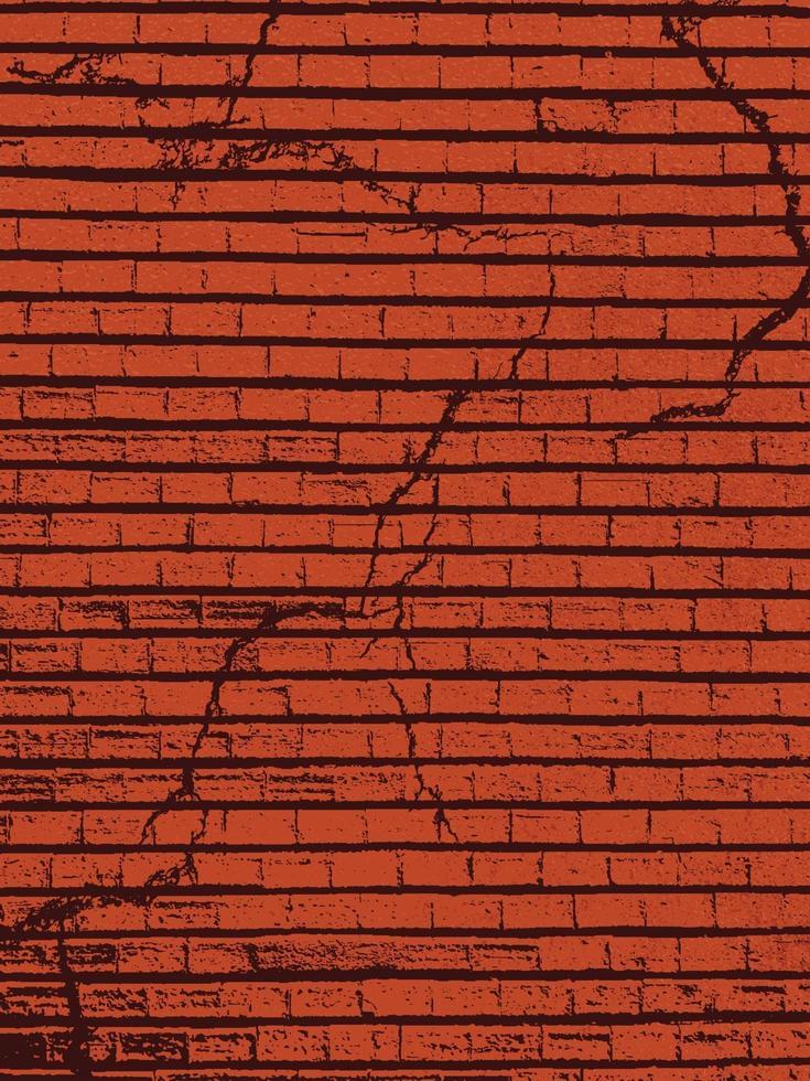 bakstenen muur textuur. overlay textuur van oude bakstenen muur. grunge textuur. vector