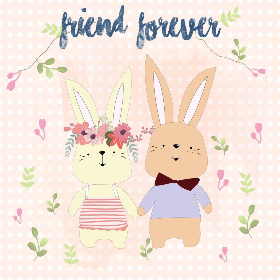 vintage paars en roze lente zomer romantisch roze bloem water kleur patroon stijl achtergrond en bruidspaar schattige beer liefde datum kaartje opslaan vector
