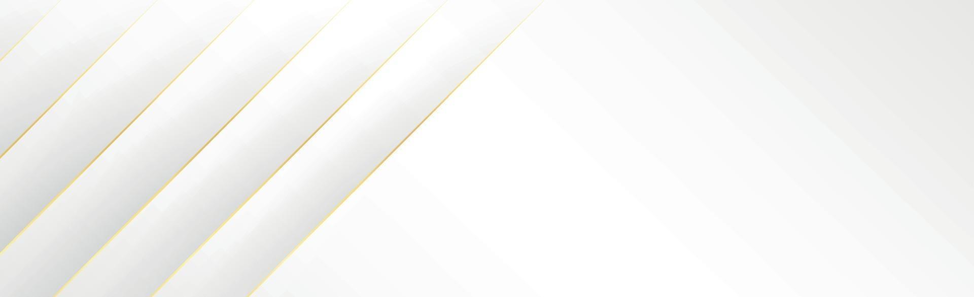 abstract grijs - witte achtergrond met gouden lijnen - vector