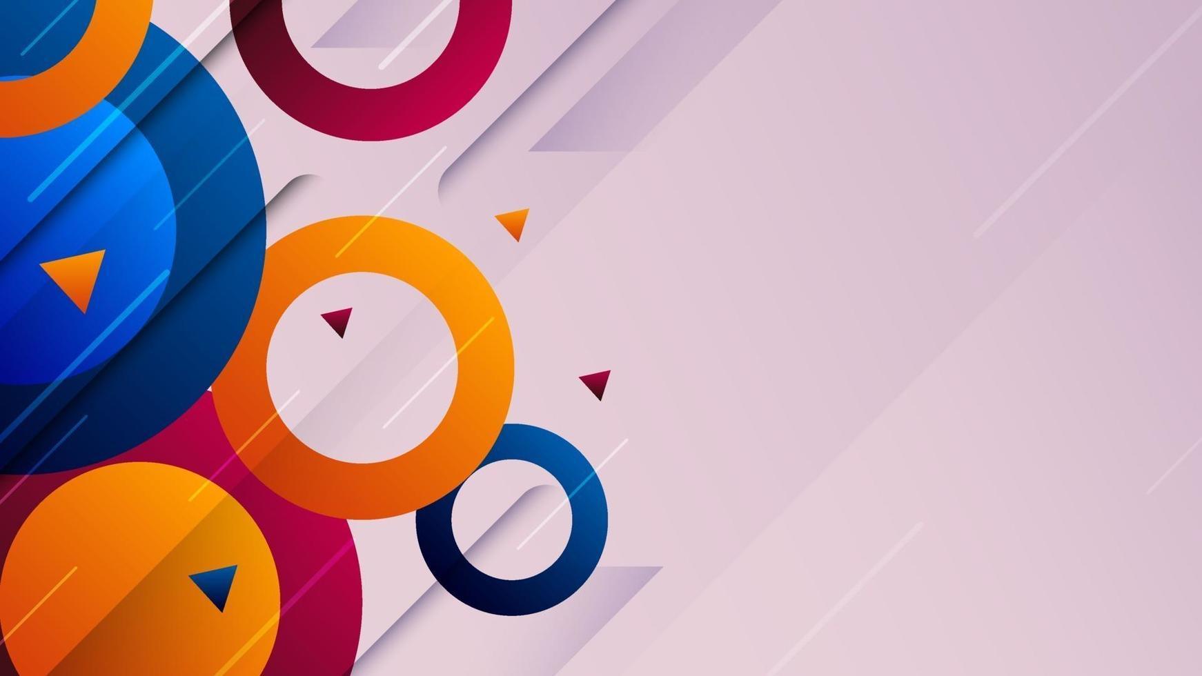 abstracte kleurrijke geometrische vormenachtergrond. dynamisch trendy bannerontwerp. vector