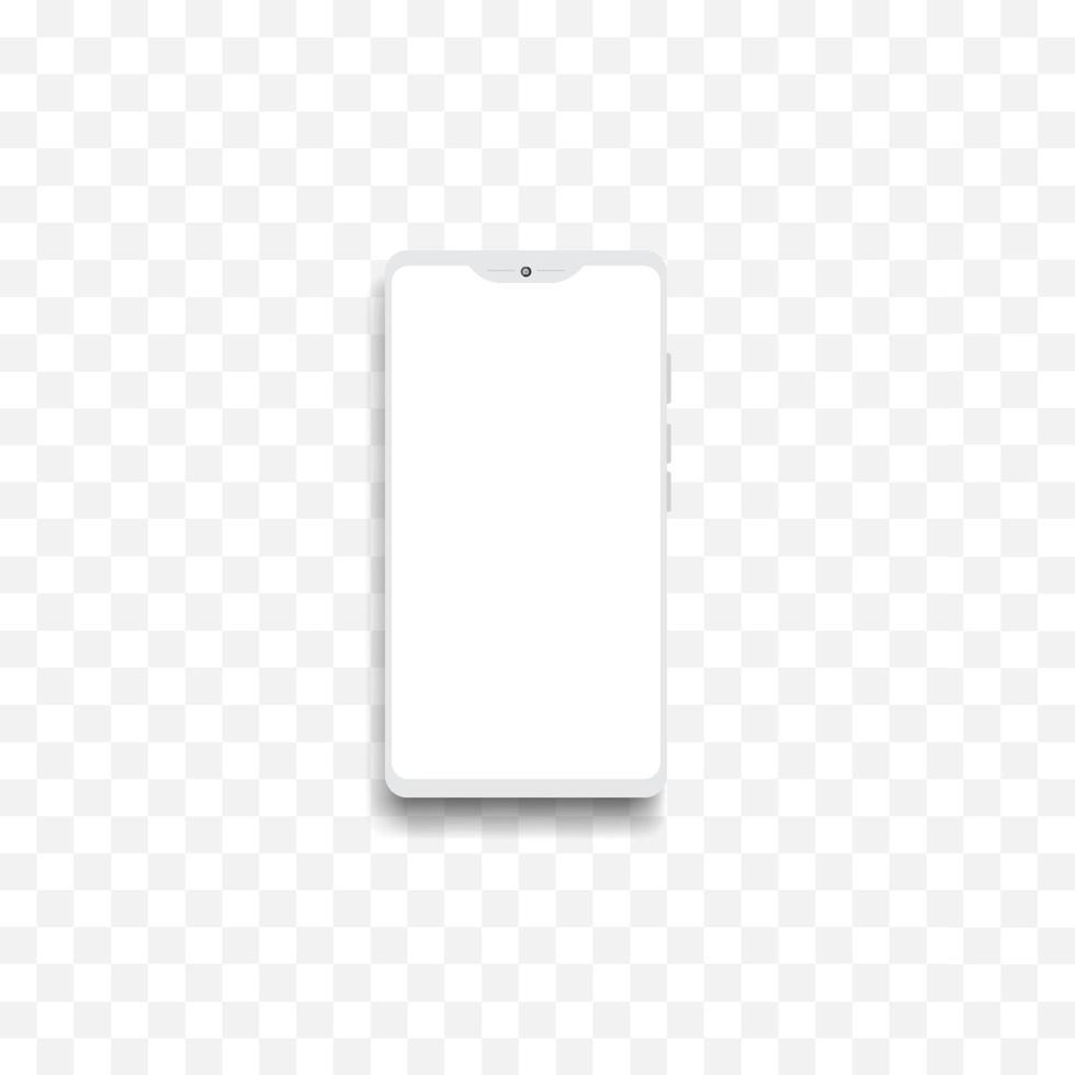 mockup voor smartphonescherm. frame telefoon display achtergrond. vector ontwerp illustratie.