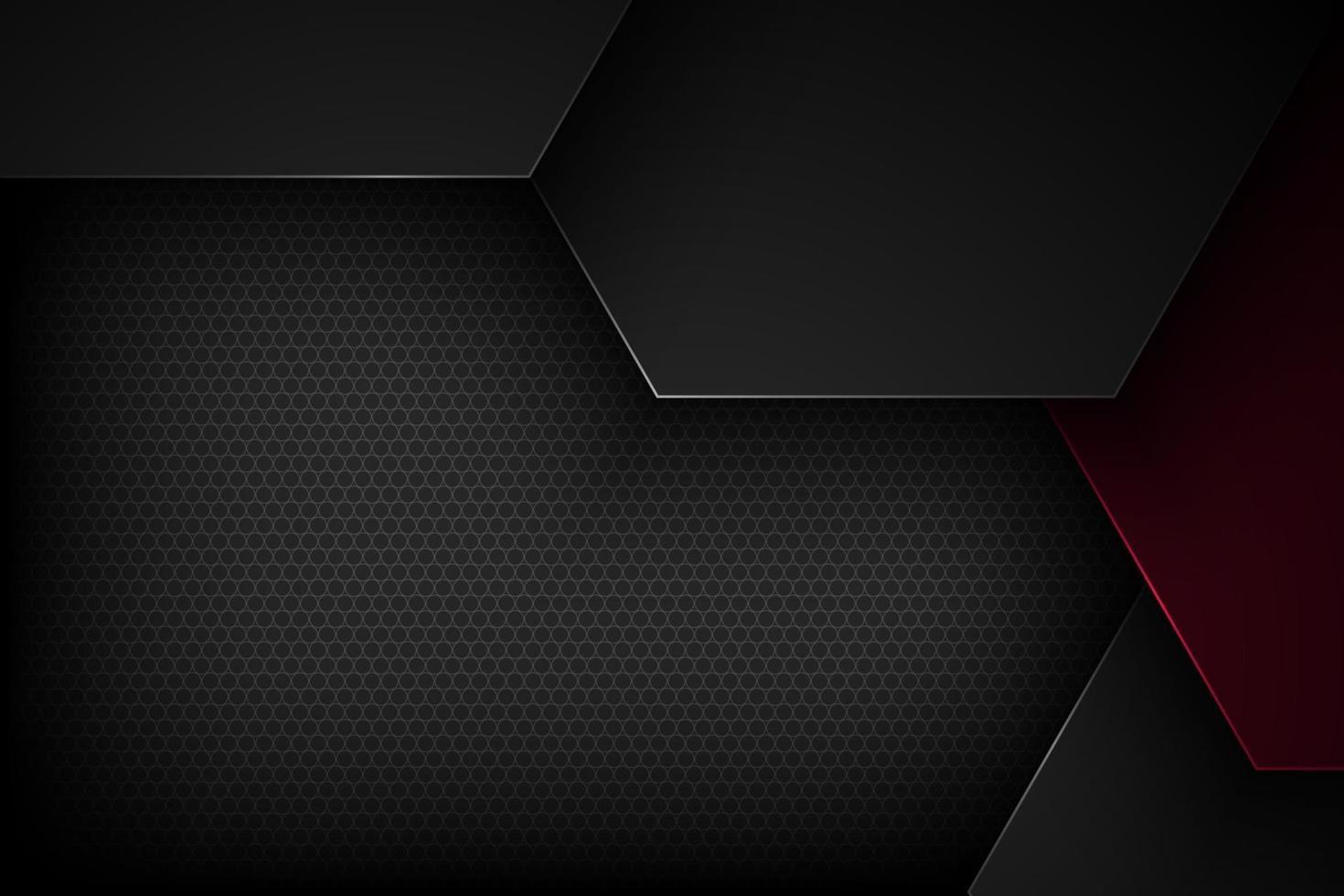 zwarte abstracte vectorachtergrond met overlappende kenmerken. vector