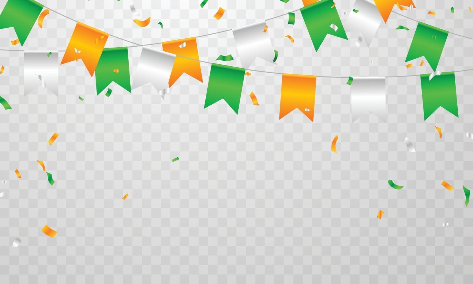 conceptontwerp onafhankelijkheidsdag india afbeeldingen. begroeting achtergrond. viering vectorillustratie. vector