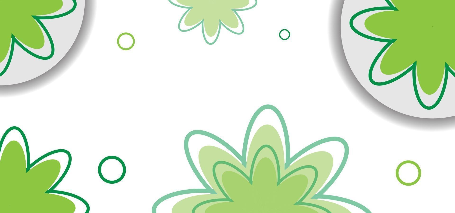 groene naadloze bloemmotief of achtergrond vector
