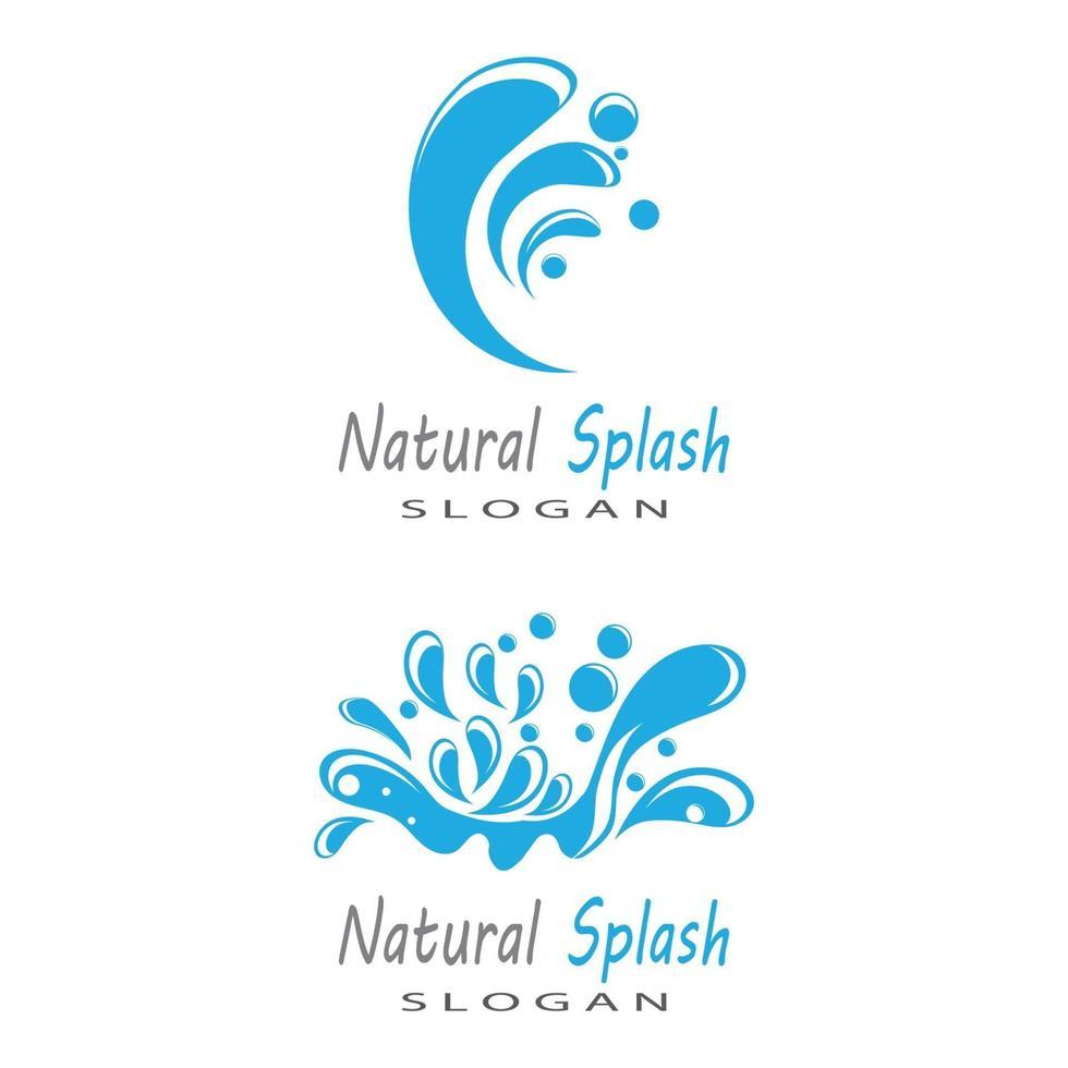 water splash pictogram vector illustratie ontwerpsjabloon