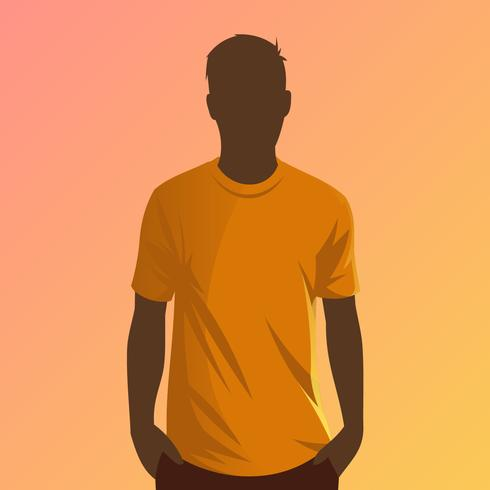 Oranje T-shirt Model Vector