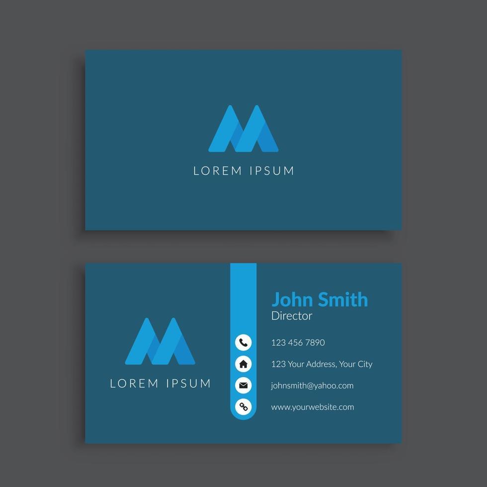 sjabloon voor professionele zakelijke visitekaartjes vector
