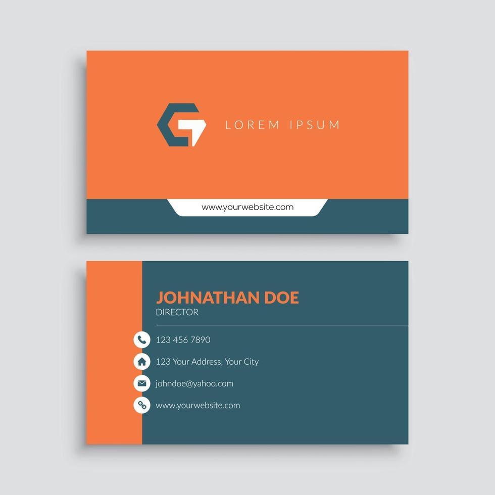 oranje minimalistische visitekaartjesjabloon vector